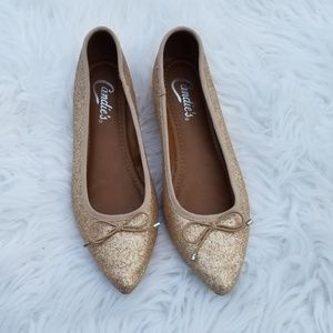 Candies Glitter Pointed Toe Flats